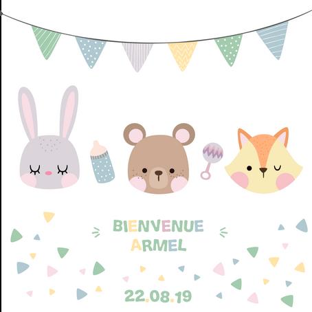 Carnet de naissance : Bienvenue à ARMEL !