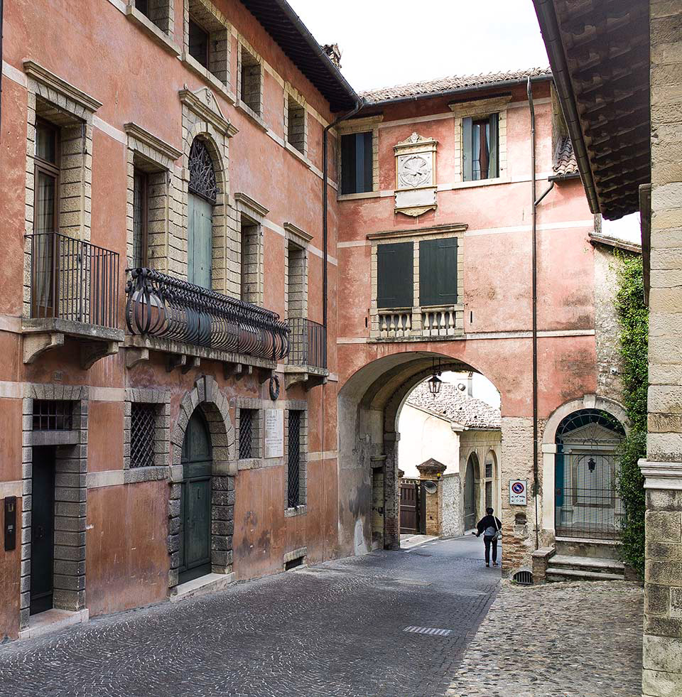 Red Buildings Asolo.