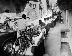 Girls In Line To School.