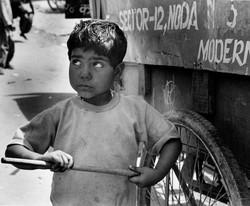 Small Boy Holding Stick Ambur.