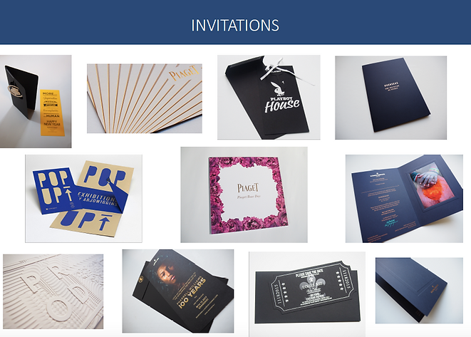 Fabrication invitations
