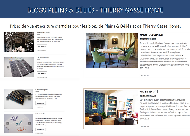Gestion de blogs