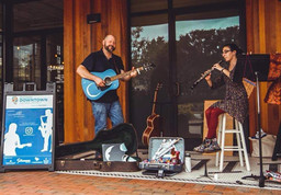 Busking for the Chapman Cultural Center