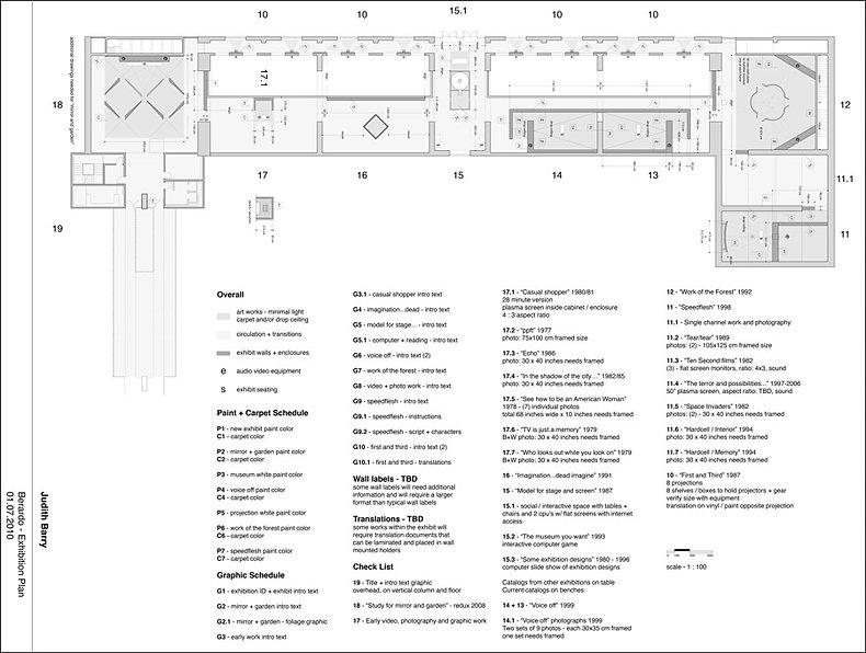 Judith Barry_Artist_exhibition-floorplan_Berardo Museum-Lisbon 2010