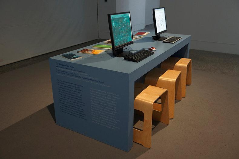 Judith Barry_Artist_ReadingRoom-computerwork_Berardo Museum-Lisbon 2010