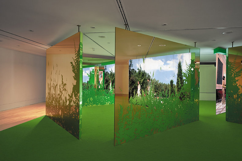 Judith Barry_Artist_Mirror-Garden_Exhibition-entrance.jpg