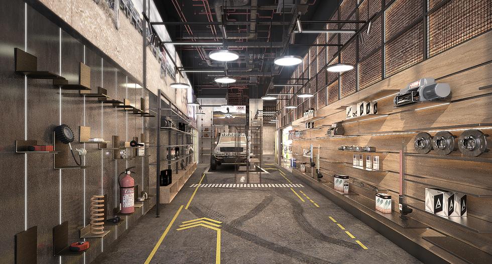 Automotive Accessory Showroom