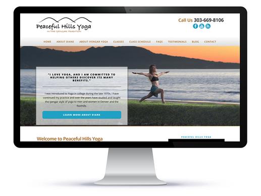 Peaceful Hills Yoga website