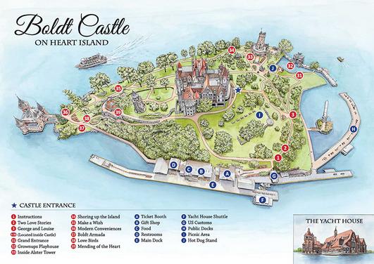 Illustration for Boldt Castle brochure