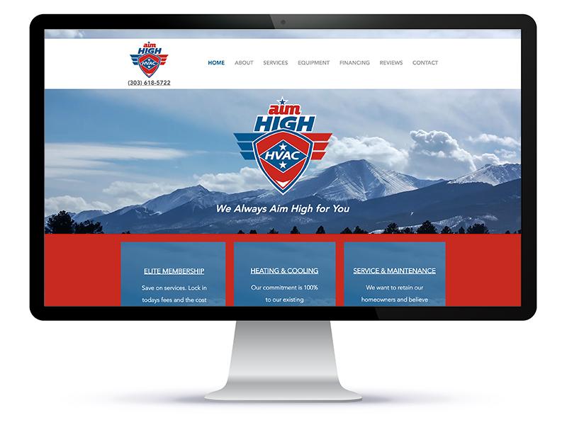 Aim High HVAC website