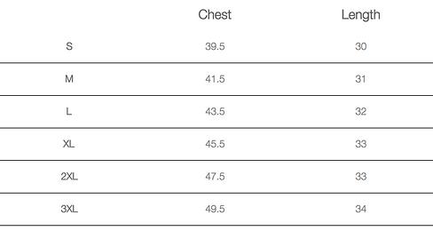 Size chart business shirt regular fit.pn