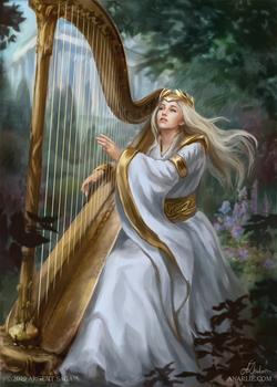 Ceremonial Harpist