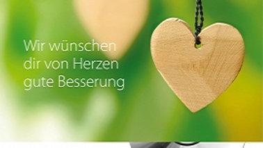 """CD Karte """"Gute Besserung"""" (Motiv Herzen)"""