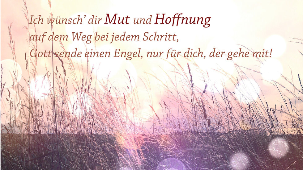 "CD Karte ""Ich wünsch' dir Mut und Hoffnung...."""