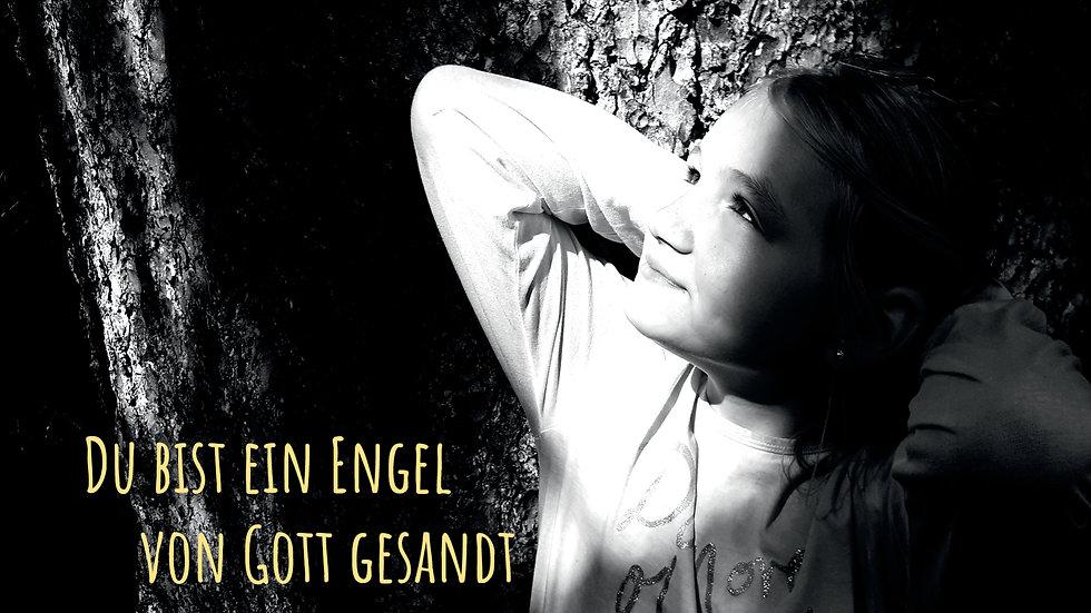 """CD Karte """"Du bist ein Engel von Gott gesandt"""""""