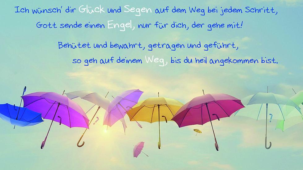 "CD Karte ""Ich wünsch' dir Glück und Segen"" (Motiv Regenschirme)"