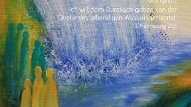 """CD Karte """"Das ist das Wunder"""" (ich will dem Durstigen...)"""