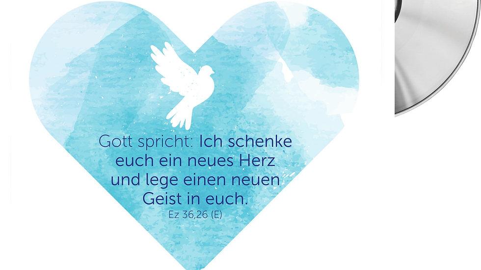 """CD Karte """"Ein neues Herz"""" (Motiv Taube)"""