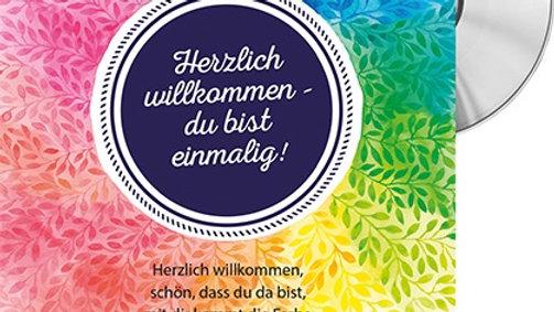 """CD Karte """"Herzlich willkommen"""""""
