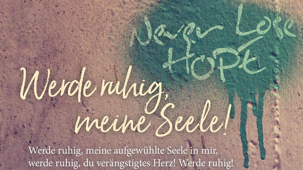 """CD Karte """"Werde ruhig"""" (Motiv: Never lose hope)"""