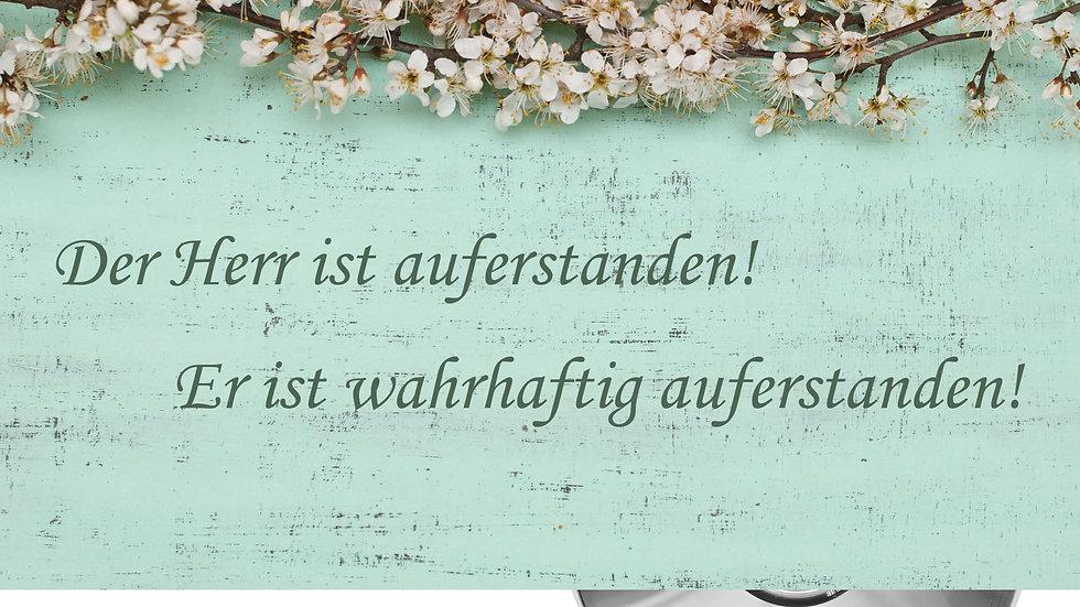 """CD Karte """"Der Herr ist auferstanden"""" Motiv Blütenzweig"""