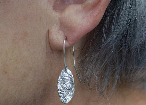 Landed on the Moon, Sterling Silver Dangle Earrings