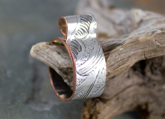 Unique silver finger ring, curly top ring, eco-friendly ring