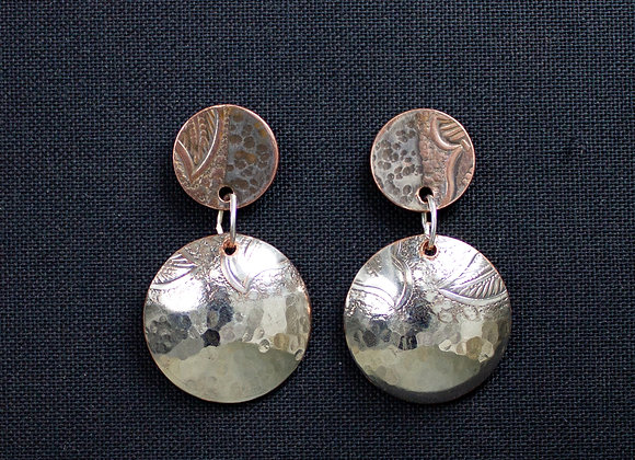 Silver Dangle Earrings crafted from a vintage silver tray