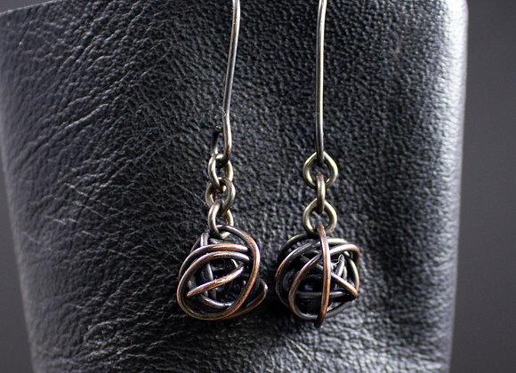 Yarn earrings, knitting earrings, crochet earrings, gifts for knitters