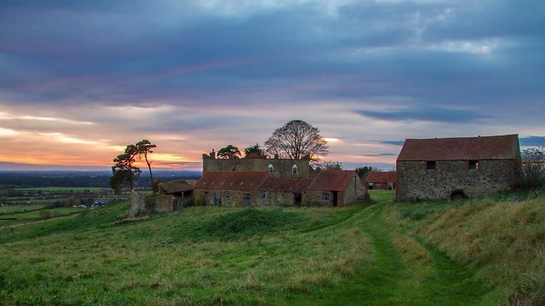Castle Farm sunset  colour (002).BMP