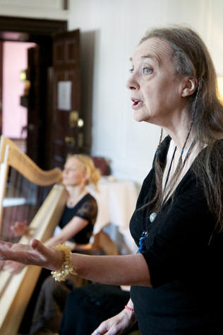 'The Story of Skeleton Woman' with Bone Song at Ways With Words, Dartington(photo: Beccy Strong)