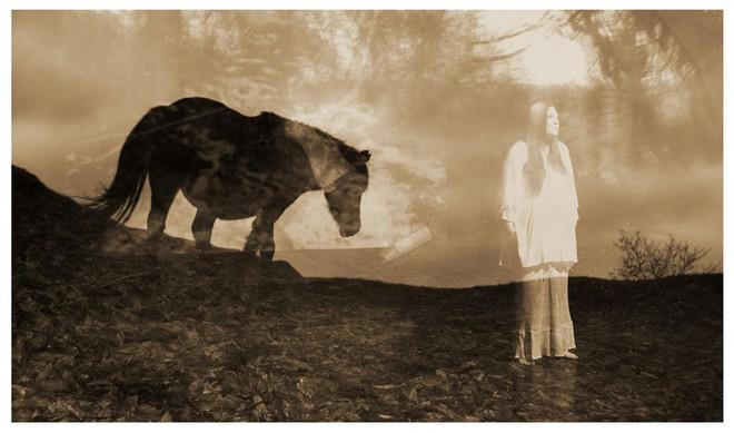 'Kitty Jay Speaks'(Dartmoor collage by Katerina Katerfly)