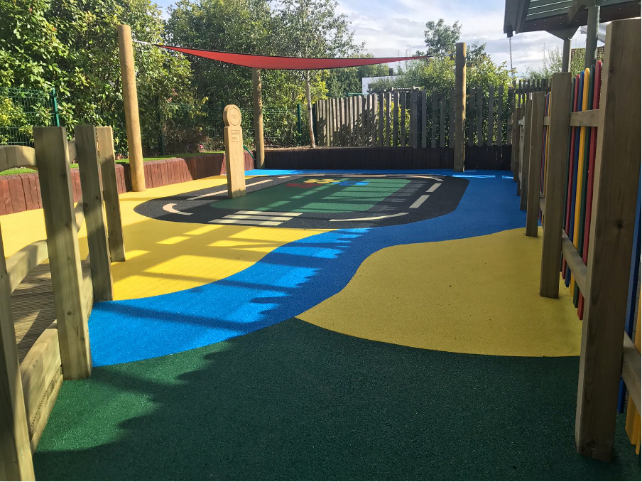 Vibrant Play Area with safety surface