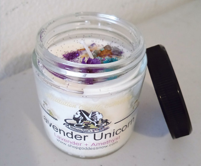 Lavender Unicorn Candle