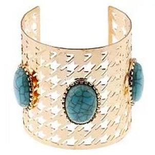 Gold Opal Turquoise Bracelet