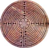 actual photo of Chartres Labyrinth