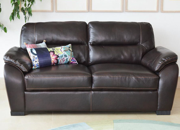 Two- seater leather sofa