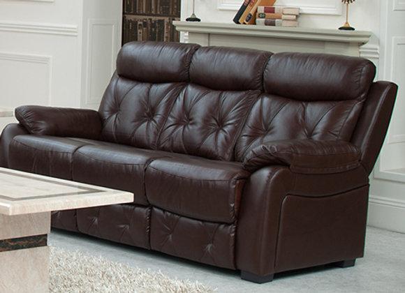 Three-seater diamond leather sofa