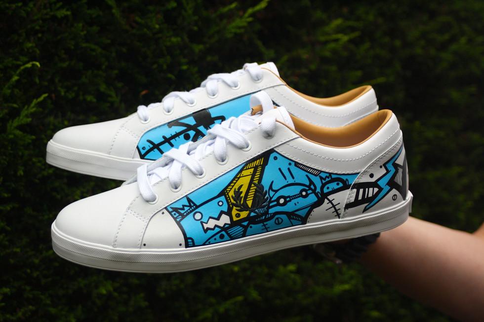 Custom Sneakers Hasie & The Robots