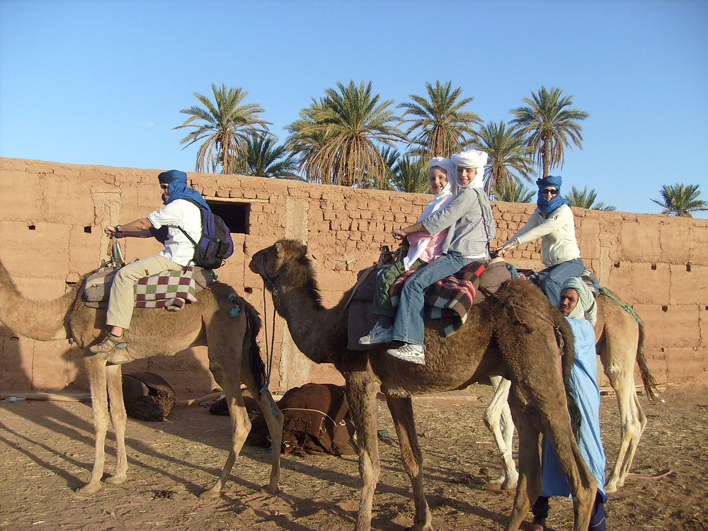 family travels in Morocco