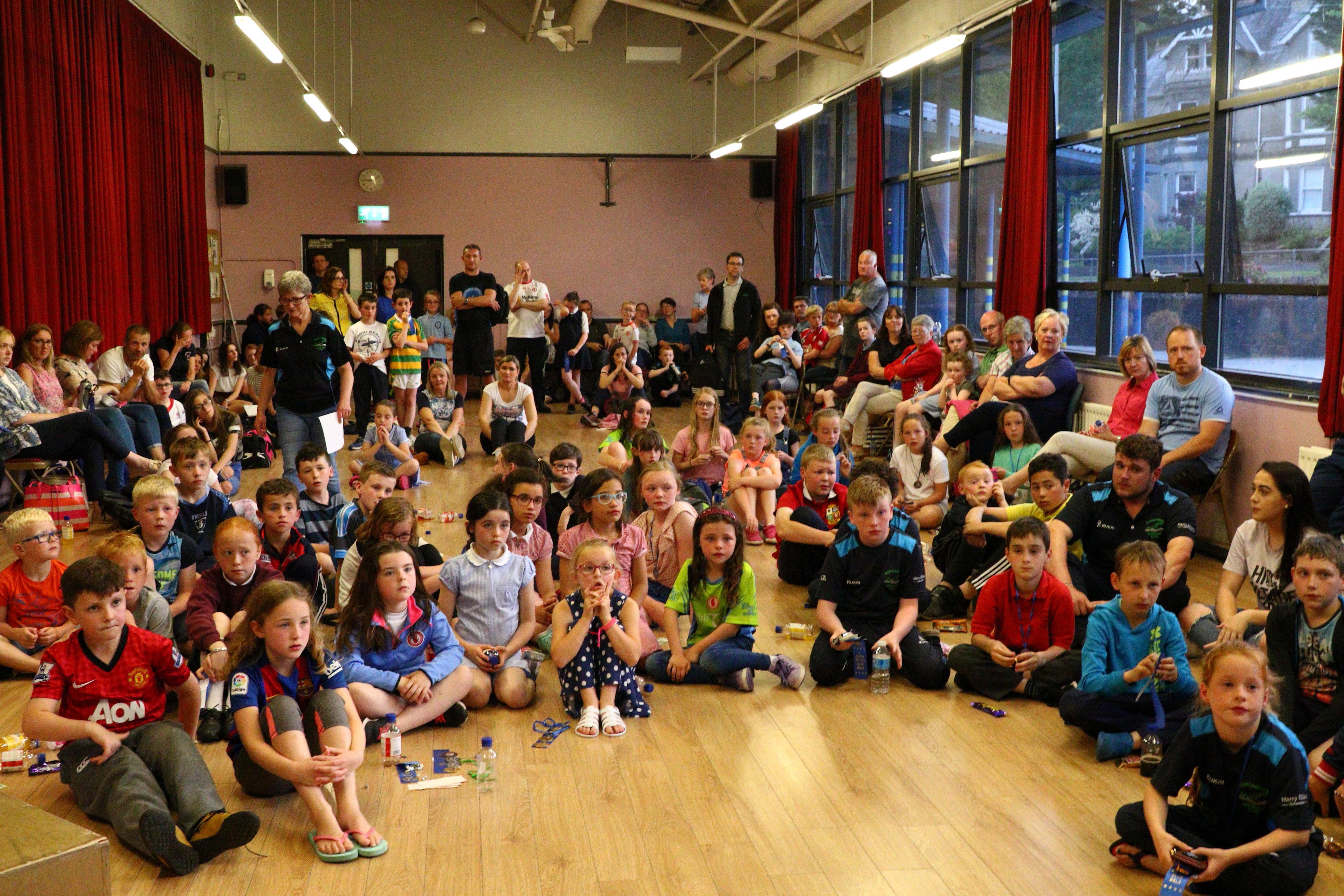 16. Children listening to Eamon's speech