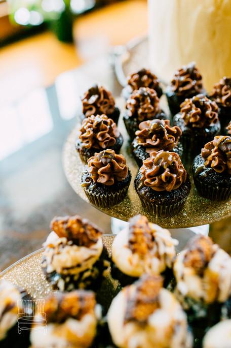 Mini Samoa and Salted Caramel Cupcakes