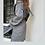 Thumbnail: Maxi cardigan/kimono spigato nero