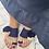 Thumbnail: Ciabattine crochet pompon blu beige