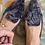 Thumbnail: Mocassini velluto goffrato antracite