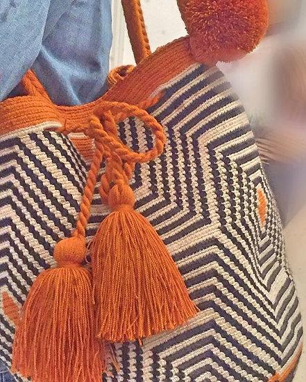 borsa secchiello color curcuma