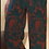 Thumbnail: Pantaloni sartoriali palazzo rosso mosto-blu petrolio