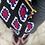 Thumbnail: Borsa uncinetto a tracolla colore nero/blu/rosso