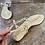 Thumbnail: Sandali artigianali pelle sabbia oro