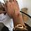 Thumbnail: Bracciale regolabile semiaperto dorato ed eco tartaruga
